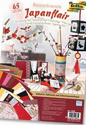 Set creativ Flori japoneze, 45 piese
