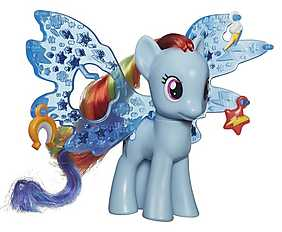 My Little Pony - Cutie Mark Magic, Figurina ponei cu aripi - Rainbow Dash