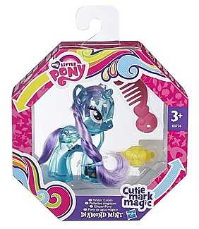 My Little Pony - Cutie Mark Magic, Figurina ponei cu sclipici - Diamond Mint