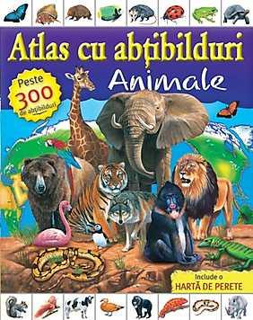 Atlas cu abtibilduri - Animale  - Katie Hewat