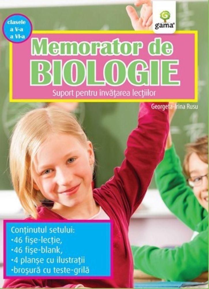 pdf epub ebook Memorator de Biologie, clasele V-VI. Suport pentru invatarea lectiilor