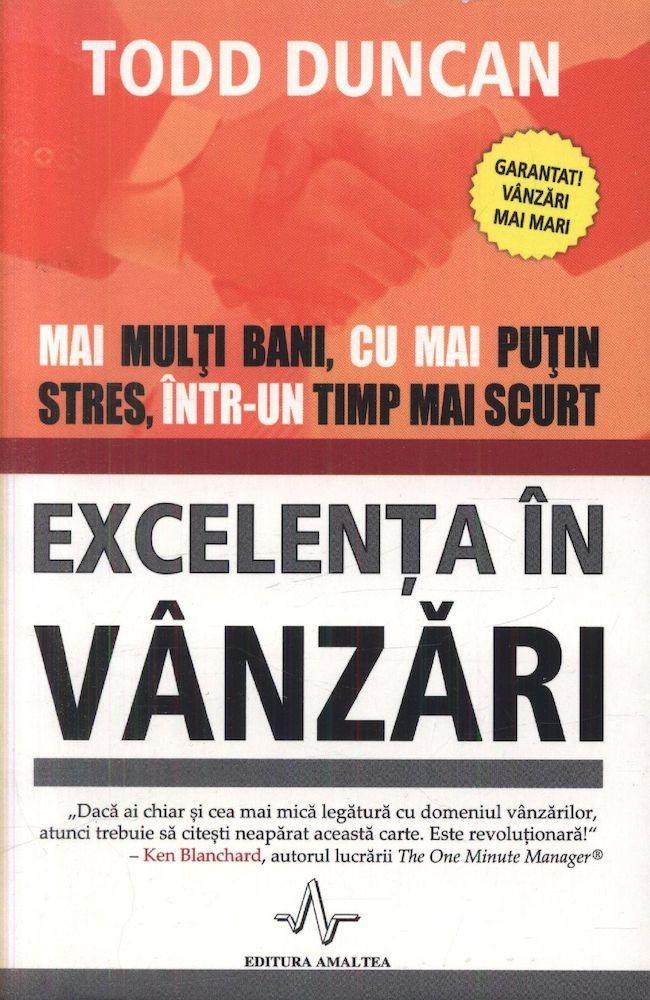 pdf epub ebook Excelenta in vanzari