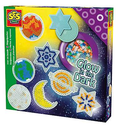Set creativ margele - Glow in the dark, Planete