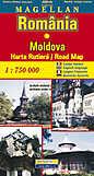 Romania. Moldova. Harta Rutiera