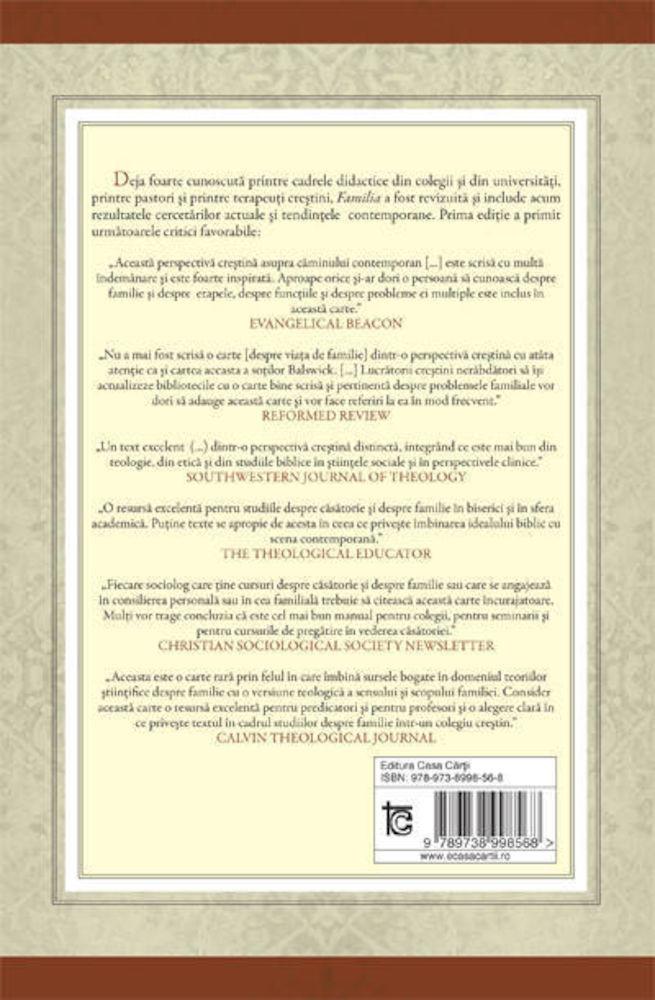 Jack O. Balswick, Judith K. Balswick - Familia - o perspectiva crestina asupra caminului contemporan -