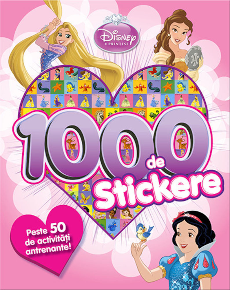 1000 de stickere cu printese Disney