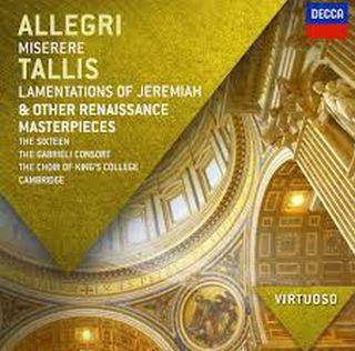 Allegri Miserere - Tallis Lamentations of Jeremiah, Other Renaissance Masterpieces - Array