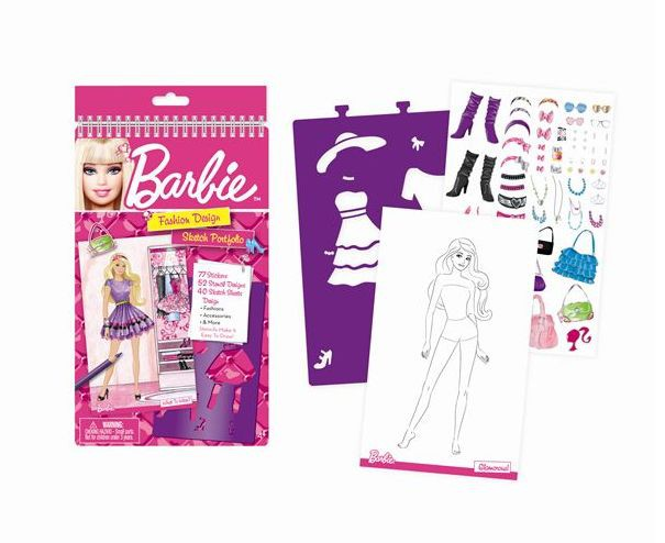 Fashion Angels - Barbie, Portofoliu schite -