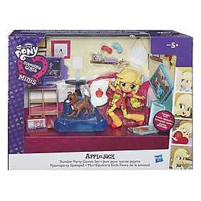 My Little Pony, Set Equestria Girls Minis - Petrecere in pijamale si jocuri, Applejack