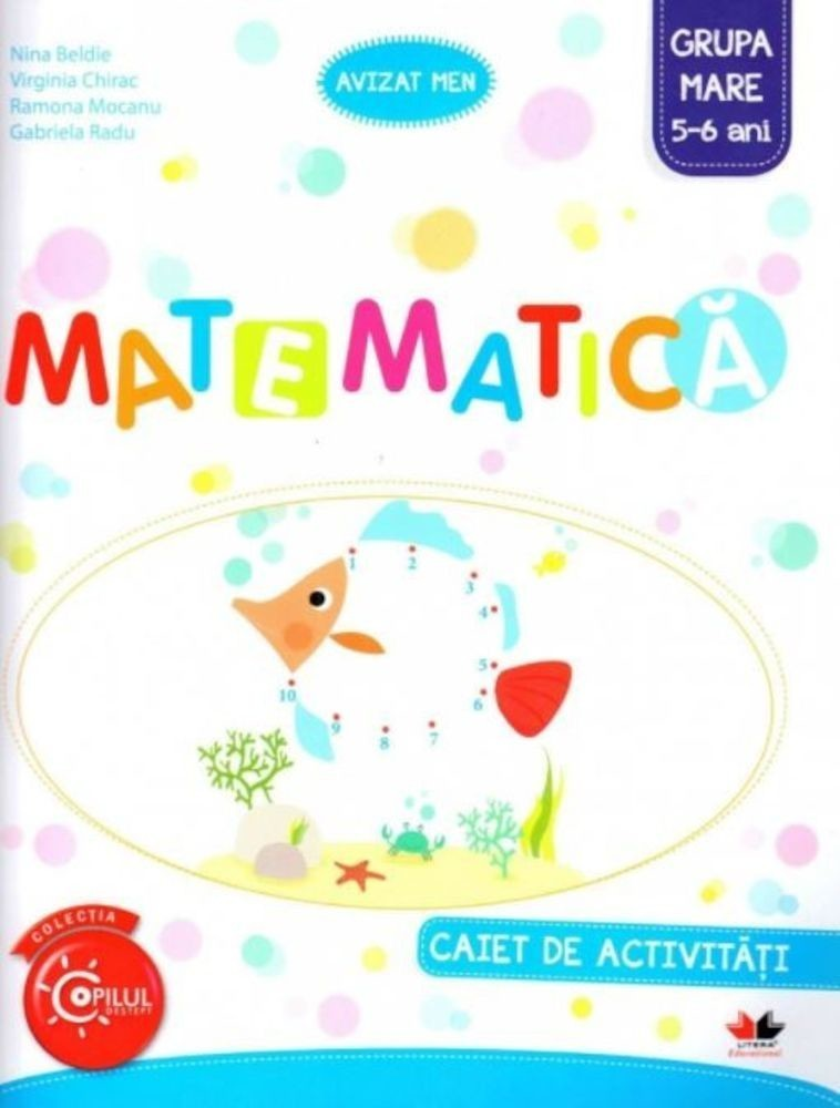 PDF ePUB Matematica. Caiet de activitati. Grupa mare 5-6 ani de Nina Beldie (Download eBook)