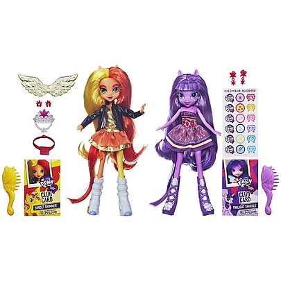 My Little Pony, Set Papusi Equestria - Sunset Shimmer si Twilight Sparkle