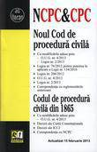 Noul Cod de procedura civila. Codul de procedura civila din 1865