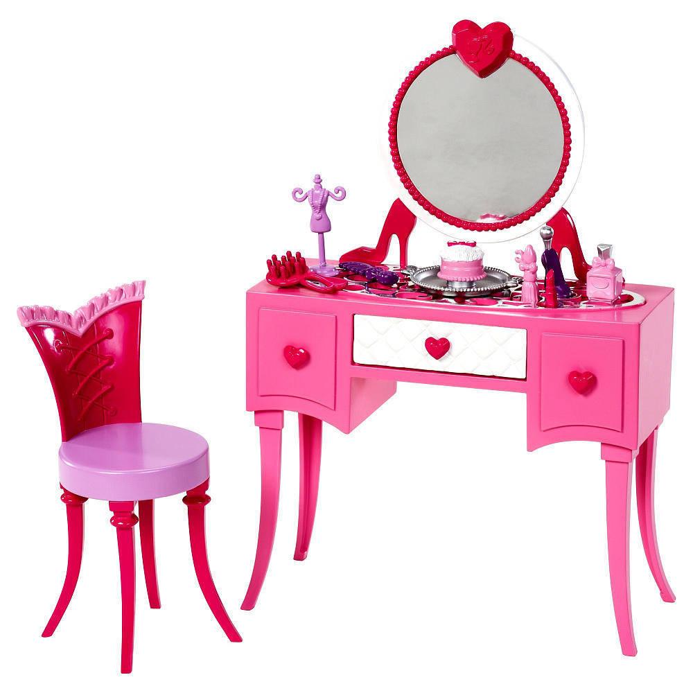 Barbie Barbie Gama Mobilier Masuta De Toaleta Cu Oglinda