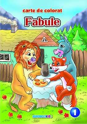 Fabule 1 - carte de colorat