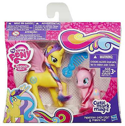 My Little Pony, Set Printesa Gold Lily & Pinkie Pie